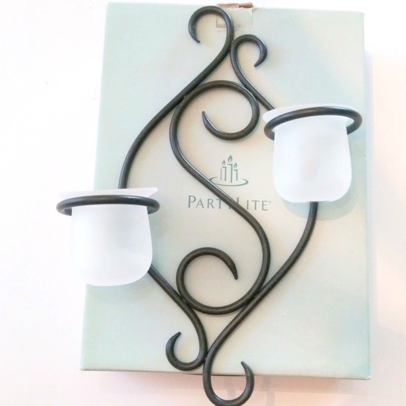 PARTYLITE RETIRED SCROLL SCONCE CANDLE HOLDER